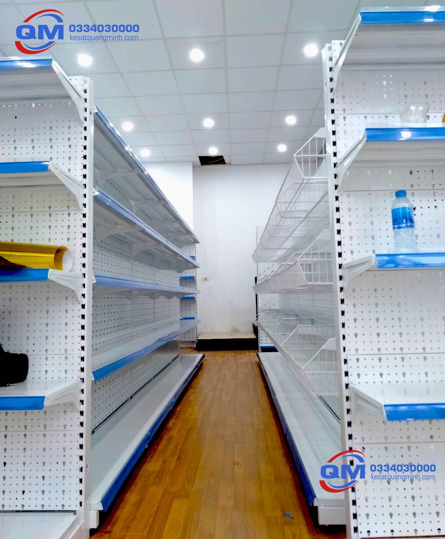 Kích thước kệ siêu thị Quang Minh