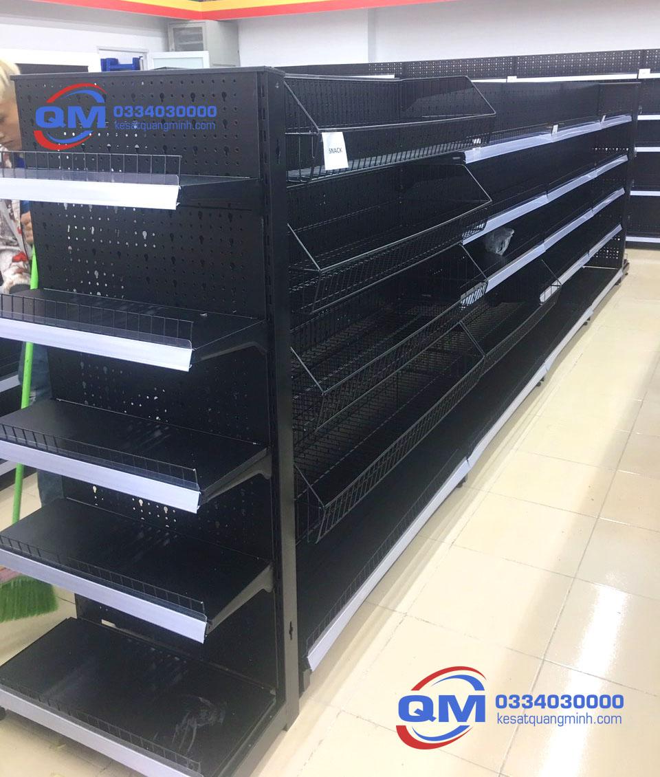 Kệ siêu thị đơn lưới 6 tầng